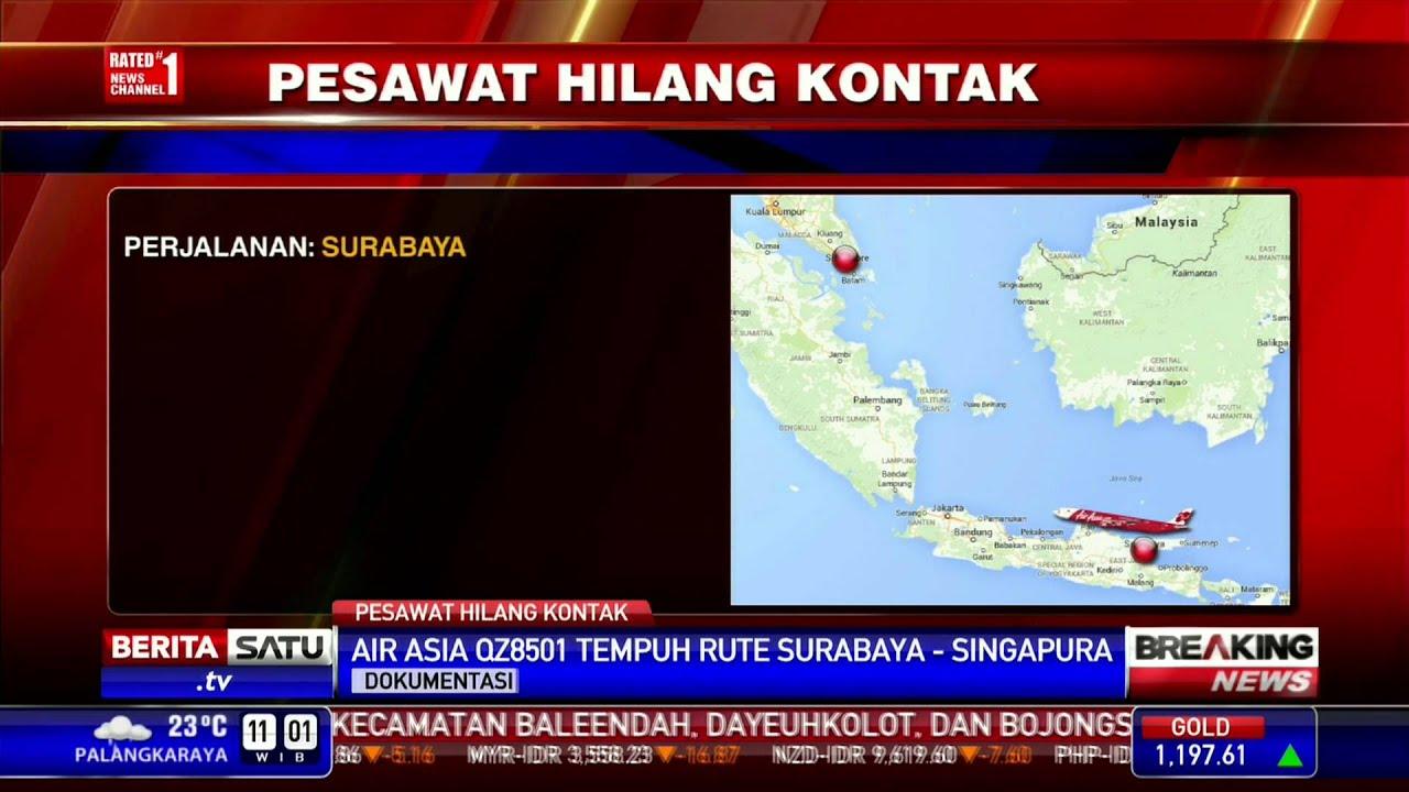 Breaking News: Pesawat AirAsia Hilang Kontak - YouTube