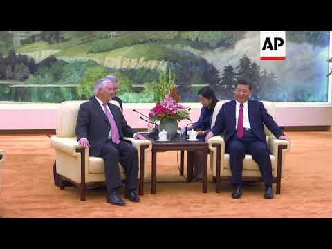 Tillerson Meets Top Chinese Leaders in Beijing