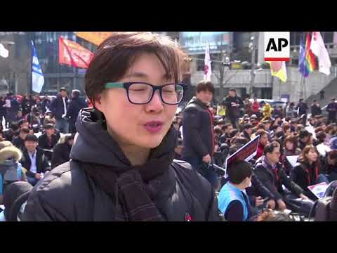 """""""Me Too"""" demo in Seoul to mark International Women's Day"""