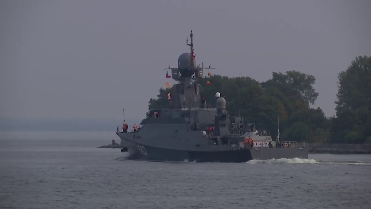Прибытие МРК «Зеленый Дол» в пункт постоянного базирования в Балтийске