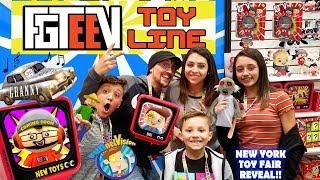 Fgteev Toys!! Granny's House & Baldis Basics Huge Reveal  Funnel Fam New York Toy Fair Vlog