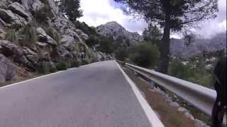The climb of Sa Calobra on Mallorca