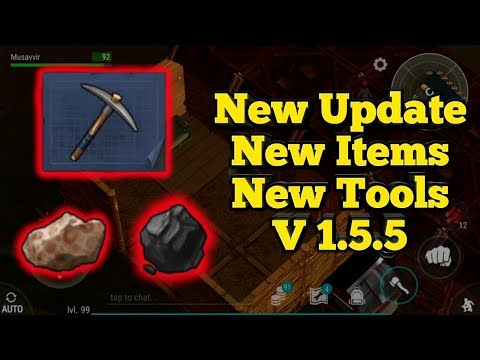 NEW UPDATE!!! V1.5.5 new items(bauxite, coal) new tools | Last day on earth : Survival