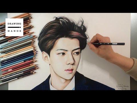 엑소 - 세훈 그림 그리기 (Speed Drawing EXO Se hun) [Drawing Hands]