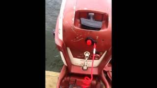 5.5 hp Johnson Outboard on  Sportspal canoe