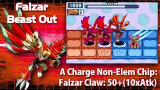 Mega Man Battle Network 6: Falzar Crosses & Beasts in 3 Minutes