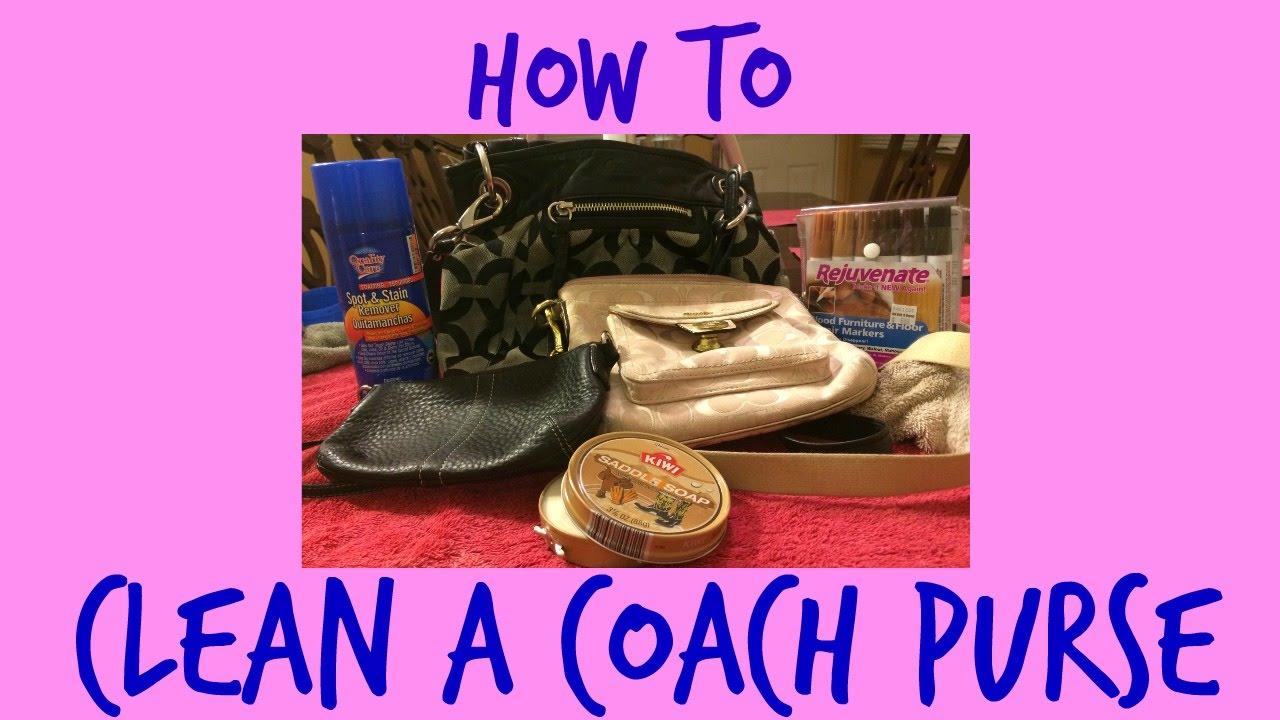 d462a8b43de9 How to clean a coach purse - YouTube