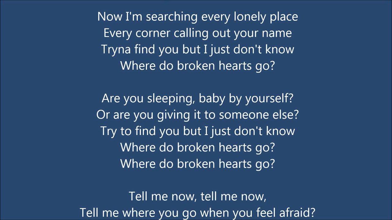 e Direction Where Do Broken Hearts Go Lyrics