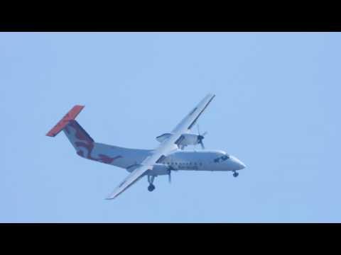 Air Inuit De Havilland Canada DHC-8-314 C-FOAI Landing Runway 24 CYQB