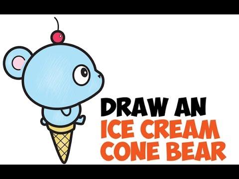 how to draw cute ice cream