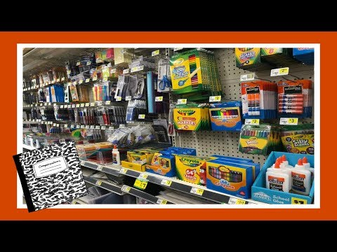 Back To School Shopping At The Dollar General! 2018