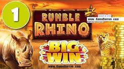Rumble Rhino slot from Pariplay BIG WIN #1