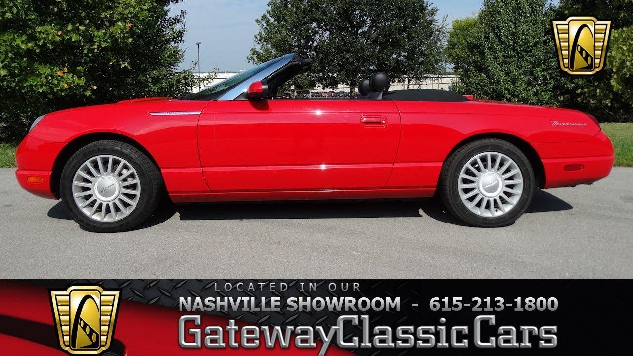 2005 ford thunderbird convertible gateway classic cars589 youtube 2005 ford thunderbird convertible gateway classic cars589 sciox Image collections