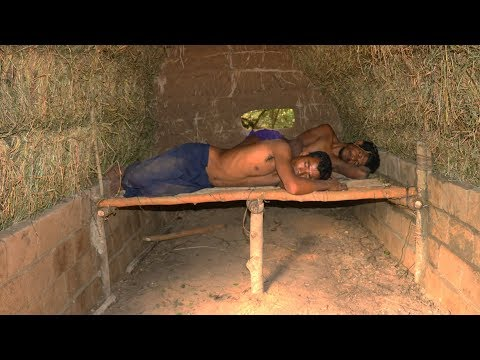 Primitive Tool : Updated grass wall to mud brick wall ! and Make Shed Bed