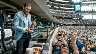 Conor McGregor Attends Dallas Cowboys Game, Mingles with Owner Jerry Jones