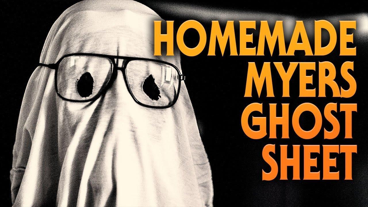 Homemade Michael Myers Ghost Sheet from Halloween | Mark 1