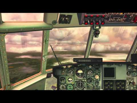 FSX - C-130 - EGLL to EGFF - Full Flight - AWESOME GRAPHICS!