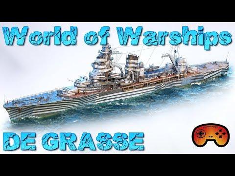 DE GRASSE Preview - World of Warships - Gameplay - German/Deutsch - DE GRASSE Wows