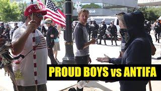 Proud Boys vs ANTIFA in Portland OR, 8/4/18 (re-color)