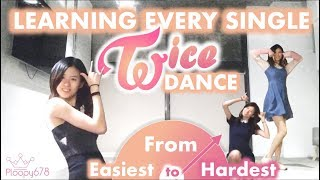 I Learned Every Twice Dance - from Easiest to Hardest (KPOP KOUNTDOWN #2)