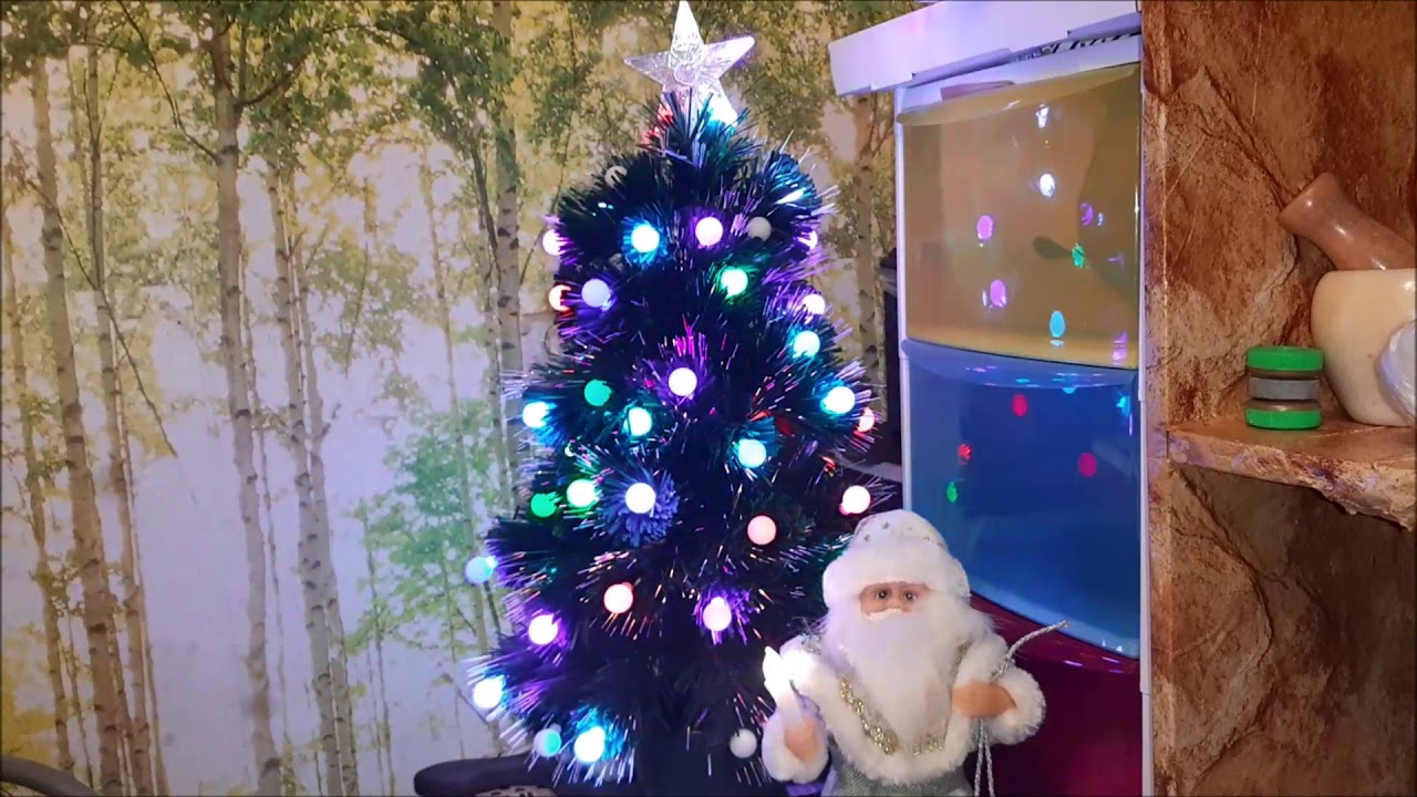 Светодиодная елочка и веселый Дед Мороз/Семейная жизнь ...