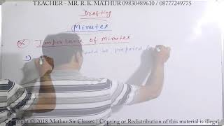 Drafting Minutes | Business communication | Mathur Sir Classes