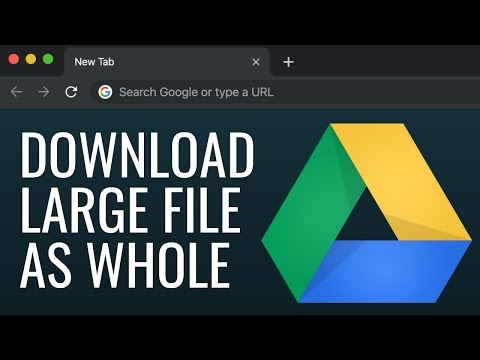 Download Large File From Google Drive As Whole