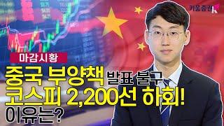 [주식투자][시장분석] 마감시황/ 중국 부양책 발표 불…