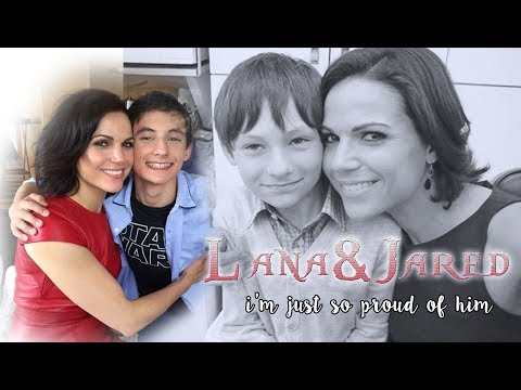 Lana Parrilla & Jared Gilmore  I'm just so proud of him