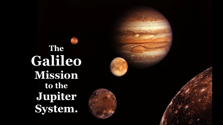 the galileo mission to the jupiter system