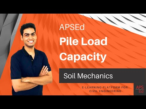 Pile Load Capacity - Cohesionless and Cohesive soils  Soil Mechanics