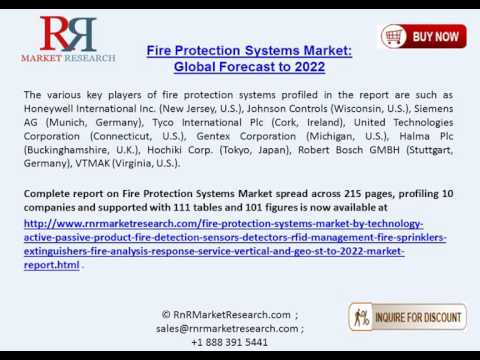 Fire Protection Systems Market Expected to Achieve 10.1% Between 2016 to 2022