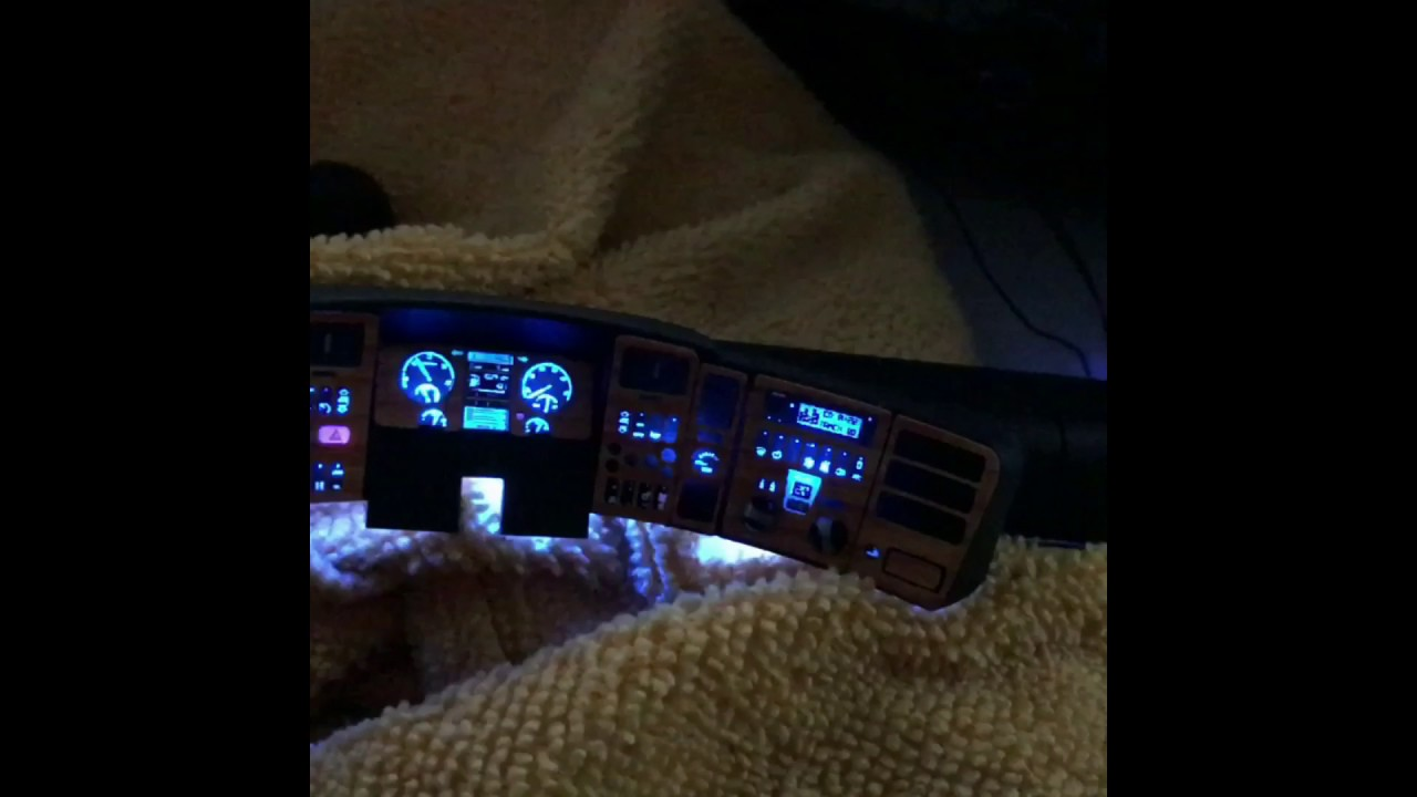 hyper realistic dashboard for tamiya scania 1  14 rc truck