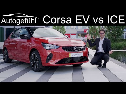 all-new Opel Corsa F REVIEW Corsa-e (EV) vs Corsa GS-Line (petrol) comparison Vauxhall Corsa