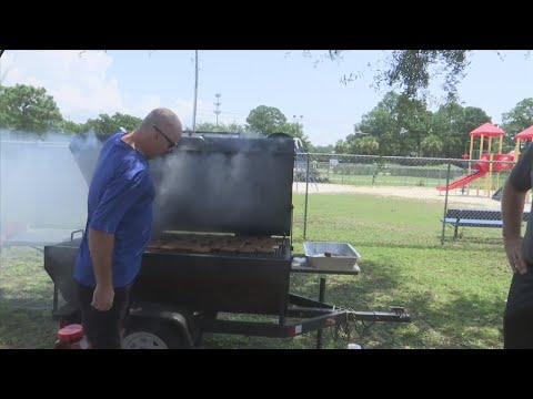 Lucille Moore Elementary School Hosts a Back to School BBQ