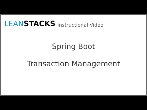 Declarative Transaction Management with Spring Boot