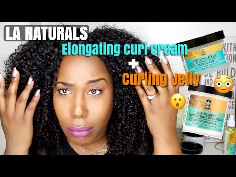 SHRINK AWAY CURL CREAM + CURLING JELLY FOR A WASH AND GO?!? | LA NATURALS!