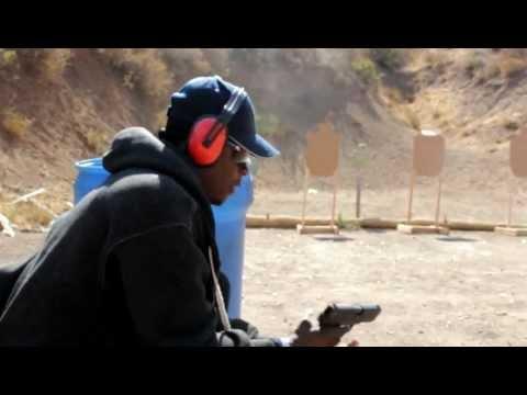 Romane Simon at the gun Range