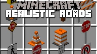 Minecraft REALISTIC ROADS MOD / BUILD YOUR OWN CAR SYSTEM WITH ROADS!! Minecraft