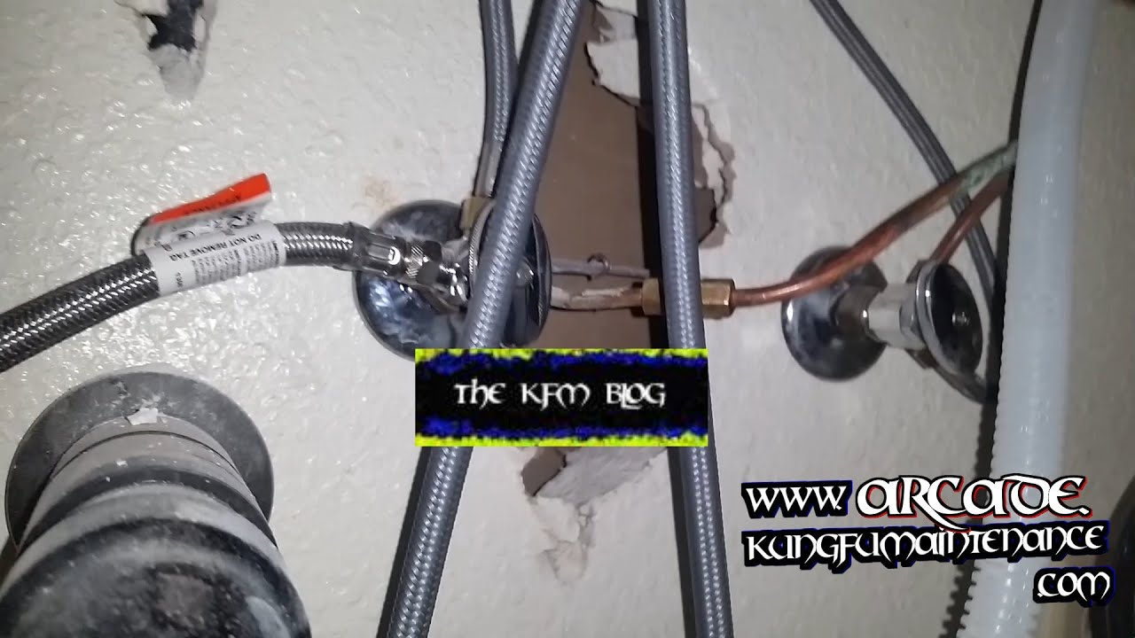 Perfect Icemaker Supply Line Leaking Inside Walls Water Leak Track Down Maintenance  Repair Video