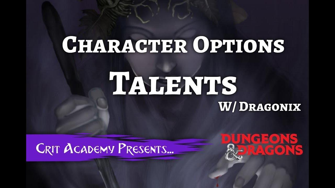 Character Option: Talents