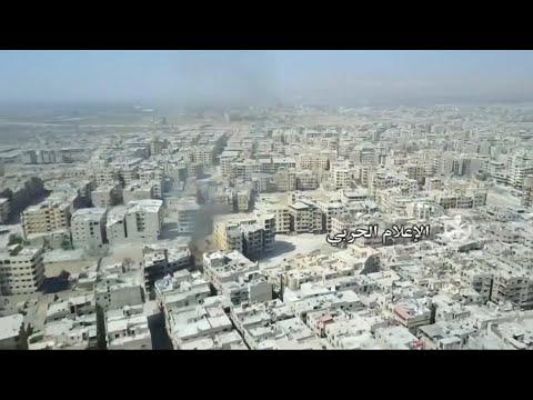 Krieg in Syrien: Drohnenaufnahmen zeigen zerstörtes Ost-Ghuta