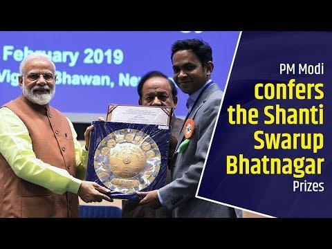 PM Modi confers the Shanti Swarup Bhatnagar Prizes