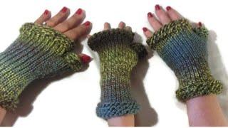 How to Loom Knit Fingerless Gloves