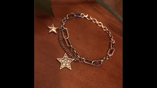 Женский браслет со звездой из стерлингового серебра 925 пробы в корейском стиле купить на Aliexpress