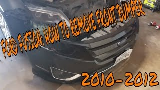 2010- 2012 Ford Fusion How to remove front bumper