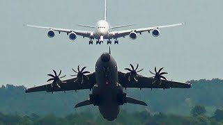 Airbus A400M Face-On Takeoff & Aerobatic Moves.