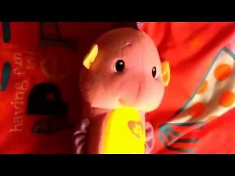 Children's Fisher Price Ocean Wonders Pink Musical Glow Seahorse Bedtime Lullabys Video