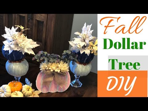 DOLLAR TREE FALL DIY | PUMPKIN TOPIARY DIY | DIY PUMPKIN SIGN | FALL 2019