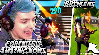 Ninja FINALLY RETURNS To Fortnite After HUGE BREAK & DOMINATES! *LOVES Everything NEW!* - Fortnite